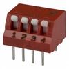 Switch, DIP; 0.480 in. L x 0.380 in. W;4; SPST; Thru-Hole; 0.1 in.; 0.02 in. -- 70216668 - Image