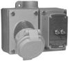 Explosionproof Pin and Sleeve Receptacle with Circuit Breaker -- CPS152102GFI - Image