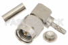 SMA Male Right Angle Connector Crimp/Solder Attachment for RG178, RG196 -- PE4296 -Image
