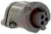connector,metal circular,str plug w/strain relief,size 10sl,3#16 solder socket -- 70143547