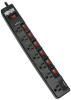 ECO-Surge 7-Outlet Surge Protector, 6 ft. Cord, 1080 Joules, 6 Individually Controlled Outlets, Black Housing -- TLP76MSGB