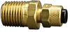 Fisnar 560762 Brass Straight Compression Fitting 0.25 in O.D. x 0.25 in NPT Male -- 560762 - Image