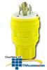 Leviton 30 Amp 480 Volt 3-Phase NEMA L16-30P Locking.. -- 28W76