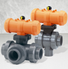 Pneumatically Actuated 3-Way Ball Valve Type 285-288