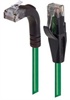 Category 5E Right Angle Patch Cable, Straight/Right Angle Up, Green, 15.0 ft -- TRD815RA2GR-15 -- View Larger Image