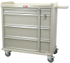 Standard Line Punch Card Medication Cart with Key Lock .. -- SL600PC -- View Larger Image
