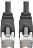Cat6a 10G-Certified Snagless Shielded STP Network Patch Cable (RJ45 M/M), PoE, Black, 1 ft. -- N262-001-BK