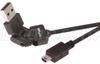Flex USB Cable - Rotating USB A Male / Standard USB Mini B5 Male 6 ft -- CAFLEX AM-MB5-6
