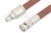 SMA Male to BNC Male Cable 12 Inch Length Using RG393 Coax, RoHS -- PE33521LF-12 -Image