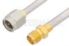 SMA Male to SMA Female Cable 18 Inch Length Using PE-SR402AL Coax -- PE34235-18 -Image