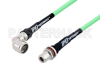 N Male Right Angle to N Female Bulkhead Low Loss Test Cable 60 Inch Length Using PE-P300LL Coax, RoHS -- PE3C2953-60 -Image