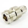 N Female (Jack) to Mini UHF Male (Plug) Adapter, Nickel Plated Brass Body -- SM2152 - Image
