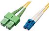 Duplex Singlemode 8.3/125 Fiber Patch Cable (LC to SC/APC), 3M (10-ft.) -- N366-03M-AP - Image