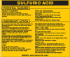 Brady B-928 Black on Yellow Rectangle Vinyl Hazardous Material Label - 4 1/2 in Width - 3 2/4 in Height - Printed Text = SULFURIC ACID - 93736 -- 754476-93736