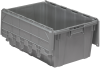 Container, Attached Lid Container 17 gal, Gray -- 39160