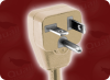 NEMA 6-20P DOWN ANGLE BEIGE to SPLIT SPECIAL HOME • Power Cords • High Voltage Power Cords • Straight Blade Power Cords -- 1723.084S - Image
