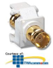 Leviton Nickel Plated F-Type Adapter -- AC084-F