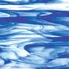 Cobalt Blue/Clear Wispy Glass -- 403-96SF
