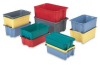 Fiberglass Plexton® Stack-N-Nest Containers -- HSN2419-14W-RD -Image