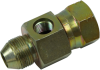 KOMATSU Male x KOMATSU Female Swivel Adapter with Gauge Port - Image