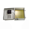 14x12x07 Fiberglass Reinf Polyester FRP Weatherproof Outdoor IP24 NEMA 3R Enclosure, 120 VAC MNT PLT & 85F Turn on Fan Gray -- TEF141207-10F-1 -Image