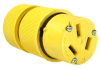Pass & Seymour® -- Gator Grip Connector, Yellow - 1053 - Image
