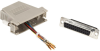 Modular Adapter Kit DB25F To RJ45F w/ Thumbscrews Gray -- FA4525F-GY -- View Larger Image