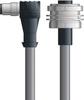 LAPP UNITRONIC® Devicenet™ Thin Panel Mount Extension Cordset - 5 positions male M12 90° to 5 positions female 7/8 inch bulkhead - Continuous Flex - Gray PVC - 5m -- OLFDN4110081F05 -Image