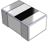 2.7nH, 0.1nH, 0.21Ohm, 340mAmp Max. SMD chip inductor -- CF060303A-2N7EHF -Image