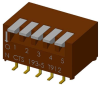 DIP Switches -- 193-5MSR-ND - Image