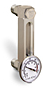 "Aluminum Liquid Level Gage with Dial Thermometer, 4"" Centerline, 3/8"
