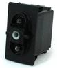 Carling Technologies VJD1D66B-00000-000 2-Light, DPDT, On-Off-On, 12V/20A Rocker Switch -- 44326 - Image