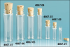 Clear Lip Glass Vials w/ Cork Stoppers -- 4067-06