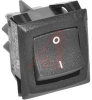 Switch, Curvette Rocker, Standard Base,Double Pole, Off-None-On, Tab Terminals -- 70132052 - Image