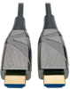 High-Speed HDMI 2.0 Fiber Active Optical Cable (AOC) - 4K x 2K HDR @ 60 Hz, 4:4:4, M/M, Black, 15 m -- P568-15M-FBR -- View Larger Image