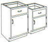 Standard Steel Laboratory Cabinet, Small (1) Door & (1) Drawer -- 110-N Series