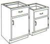 Standard Steel Laboratory Cabinet, Small (1) Door & (1) Drawer -- 110-N Series