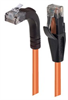 Category 5E Right Angle Patch Cable, Straight/Right Angle Up, Orange, 20.0 ft -- TRD815RA2OR-20 -Image