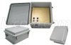 14x12x7 Inch Weatherproof Enclosure with 802.3af compatible PoE Interface w/CAT 5 Surge Protection -- NB141207-400