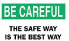 Warning Sign,14 x 20In,BK and GRN/WHT -- 4GJ60