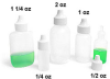 Natural LDPE Dropper Bottles with Dropper Plug -- 0001-11