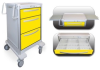 3 Drawer Junior Medium Lightweight Aluminum Isolation Cart -- JMGKA-699-YEL - Image