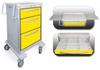 3 Drawer Junior Medium Lightweight Aluminum Isolation Cart -- JMGKA-699-YEL - Image