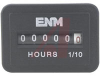 Hour Meter, Quartz, .03 W, 10-80 VDC, DC, 1.77W x 1.25H face, .3W, panel mt -- 70000813