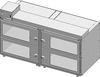 Desiccator Cabinet -- CAP19S-SST-4DR-DBL-18Wx10Hx18D-3B - Image