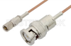 10-32 Male to BNC Male Cable 12 Inch Length Using RG178 Coax, RoHS -- PE36540LF-12 - Image