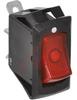 Switch, Rocker, Illuminated, SPST, OFF-ON, RED -- 70014201 - Image
