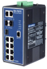 7+3G Combo Port Gigabit Managed Redundant Industrial Ethernet Switch with 2 x DI/O -- EKI-7657C-AE