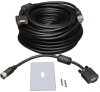 VGA Coax Monitor Easy Pull Extension Cable, High Resolution Cable with RGB Coax (HD15 M/F), 50-ft. -- P501-050