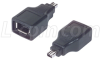 Firewire Adapter, Type1 Female/Type 2 Male -- FWA010FM - Image